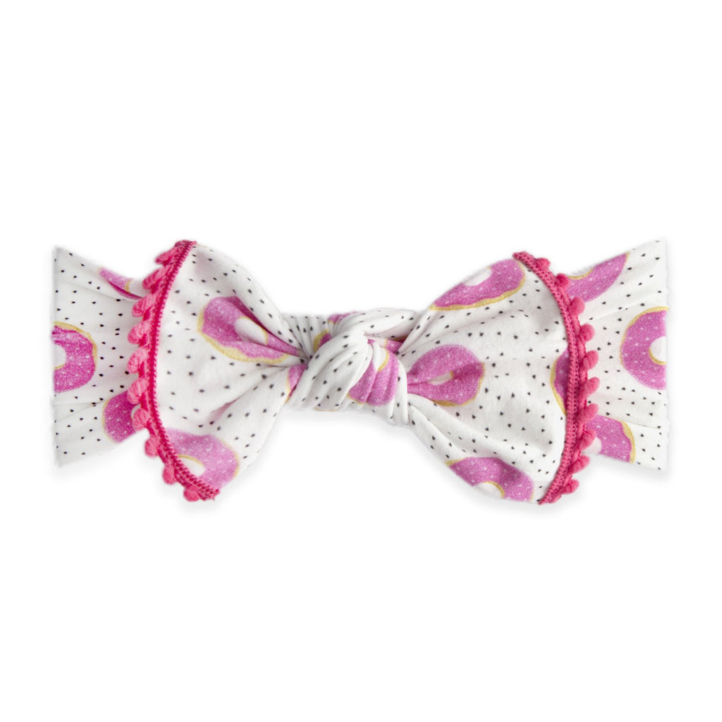 Baby Bling Trimmed Printed Knot Sprinklicious-Baby Bling-The Bugs Ear