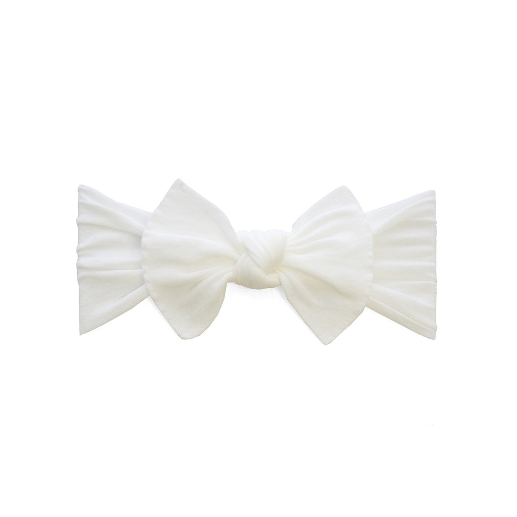 Baby Bling Itty Bitty Knot Bow White-Baby Bling-The Bugs Ear