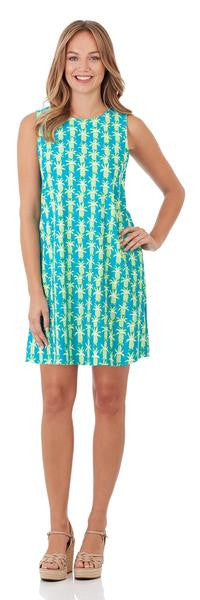Jude Connally Beth Dress in Mosaic Tiles Turquoise-Jude Connally-The Bugs Ear