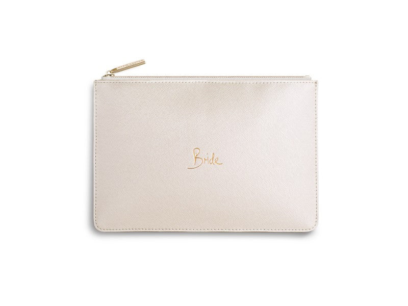 Katie Loxton Bride Perfect Pouch in Metallic White-Katie Loxton-The Bugs Ear