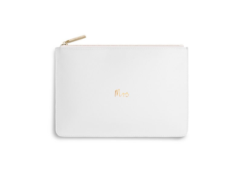 Katie Loxton Mrs Perfect Pouch in White-Katie Loxton-The Bugs Ear