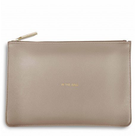 Katie Loxton In The Bag Perfect Pouch in Oyster Grey-Katie Loxton-The Bugs Ear