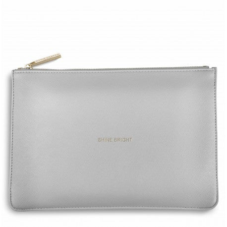 Katie Loxton Shine Bright Perfect Pouch in Pale Grey-Katie Loxton-The Bugs Ear