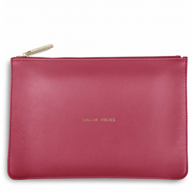 Katie Loxton Bag of Tricks Perfect Pouch in Deep Pink-Katie Loxton-The Bugs Ear
