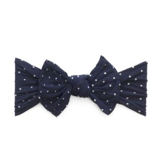 Baby Bling Patterned Knot Navy Dot-Baby Bling-The Bugs Ear
