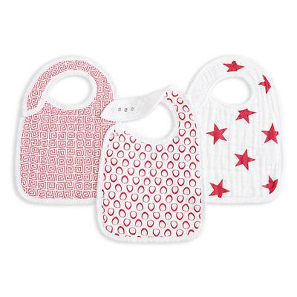 Aden and Anais Snap Bib Product RED-Aden + Anias-The Bugs Ear