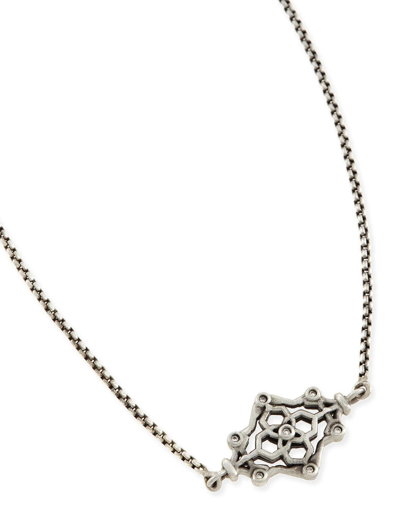 Kendra Scott Riley Pendant Necklace in Antique Silver-Kendra Scott-The Bugs Ear