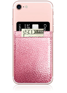 Rose Gold Faux Leather Phone Pocket-iDecoz-The Bugs Ear