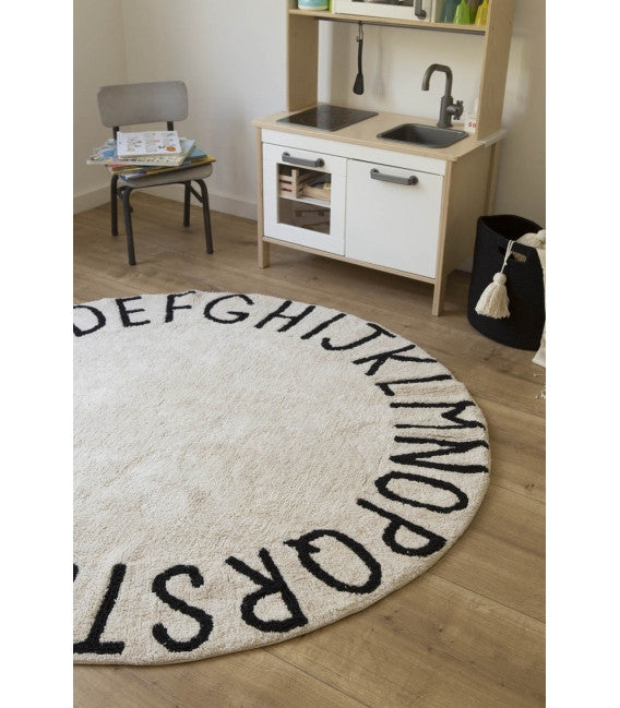 Round ABC Natural Rug-Lorena Canals-The Bugs Ear