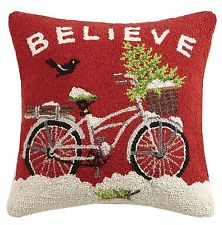 Believe Christmas Bike Hook Pillow-Peking Handicraft-The Bugs Ear