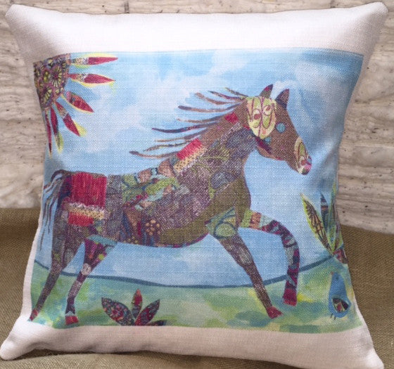 Flew South Pillow Colorful Horse-Southern Roots-The Bugs Ear