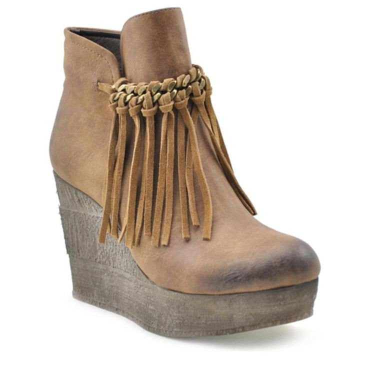 Sbicca Zepp Fringe Wedge-Sbicca-The Bugs Ear