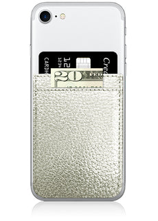 Silver Faux Leather Phone Pocket-iDecoz-The Bugs Ear