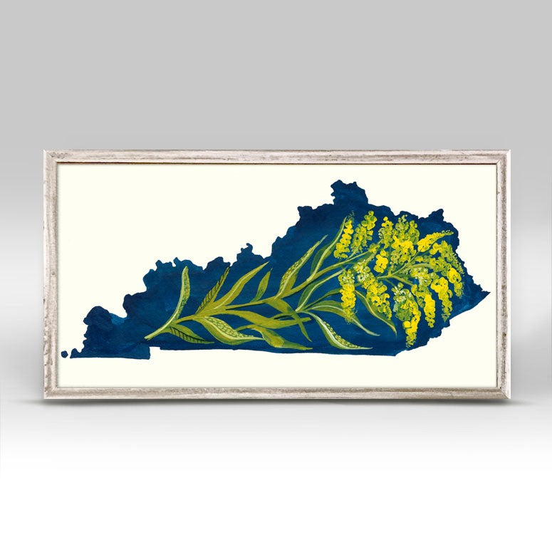 State Flowers - Kentucky Mini Framed Canvas 10x5-Greenbox-The Bugs Ear