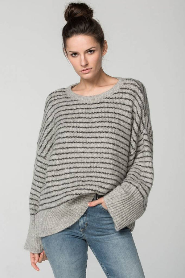 The Striped Ganges Oversized Pullover Sweater-Sundays-The Bugs Ear