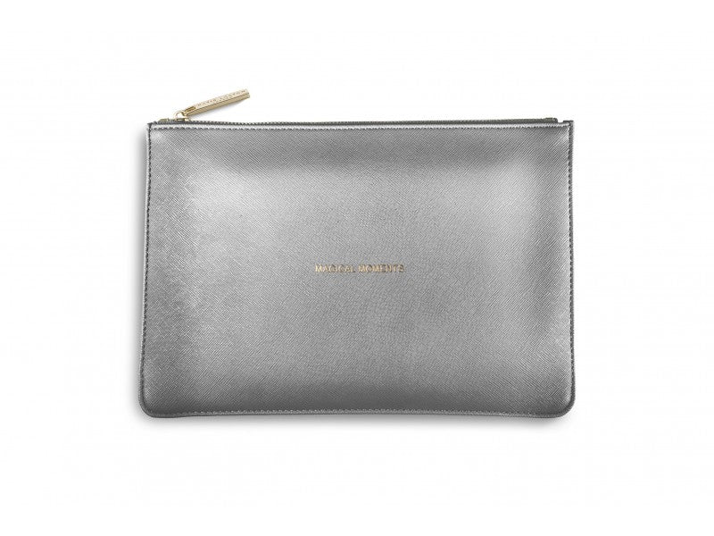 Katie Loxton Magical Moments Pouch in Metallic Charcoal-Katie Loxton-The Bugs Ear