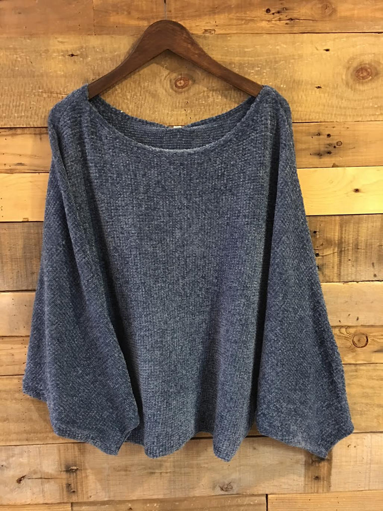 Sophie Knitted Sweater Wedgewood Blue-Wishlist-The Bugs Ear