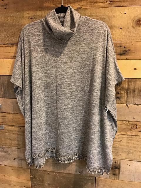 Lacy Grey Poncho-On The Road-The Bugs Ear