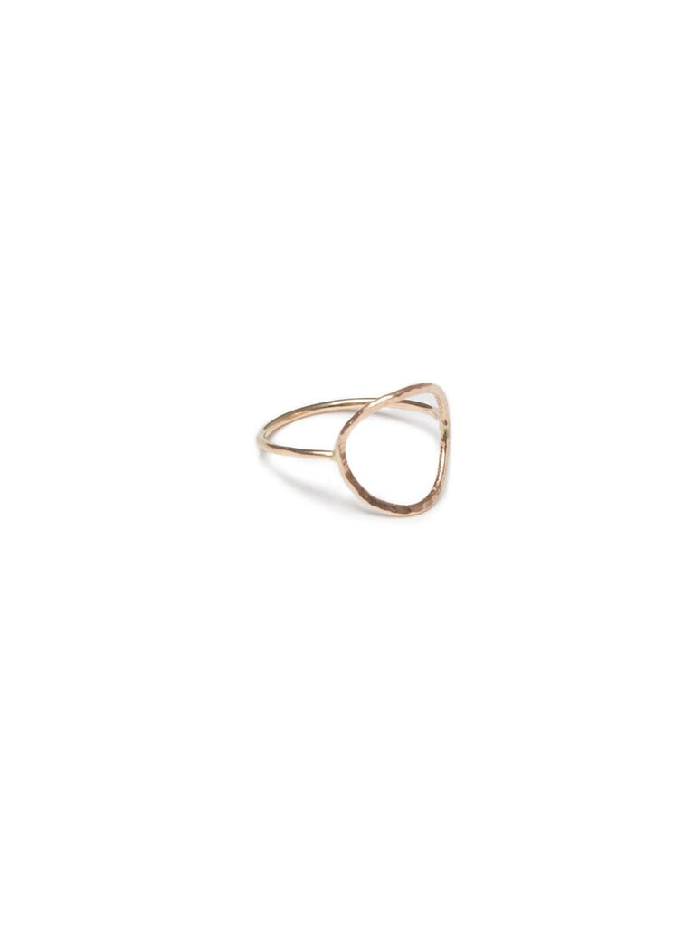 Hammered Circle Ring-Fashionable-The Bugs Ear