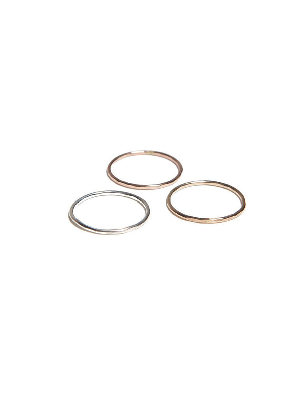 Hammered Stacking Rings-Fashionable-The Bugs Ear