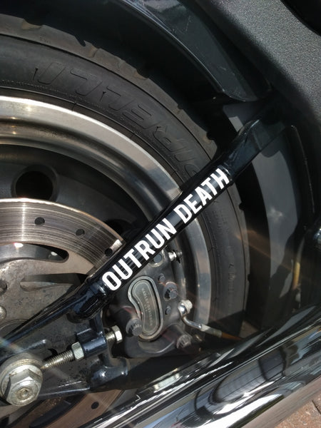 Outrun Death Swingarm Vinyl Sticker