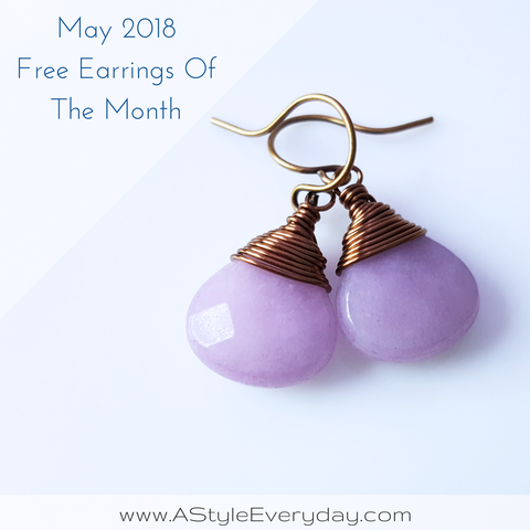 A Style Everyday - Free Earrings Of The Month - May 2018