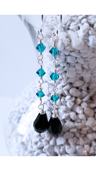 Blue Night Sterling Silver Earrings