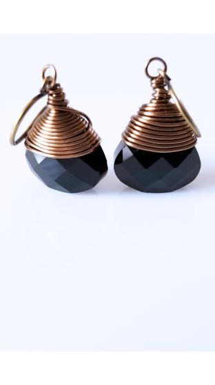 Black Brass Earrings