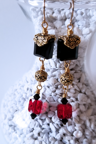 Treasures of the Sand |  Gold Filled Dangle Earrings