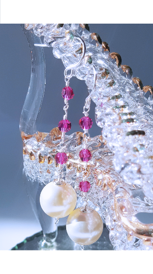 Party in Pink - Cream Peal Earrings