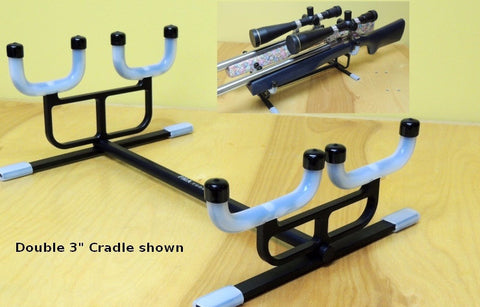 "Cleaning Cradle - PMA - Double rifle for rifles with 3"" forend  - Xtra Long for F-Class, Long Range, and ELR rifles - Hoplon Precision"