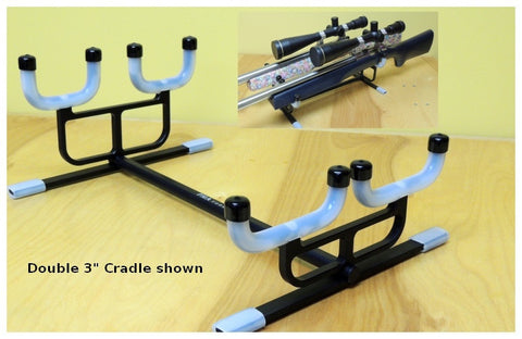 "Cleaning Cradle - PMA - Double rifle Combo for rifles with 3"" and 2 1/2"" forend such as Benchrest, F-Class and Long Range rifles - Hoplon Precision"