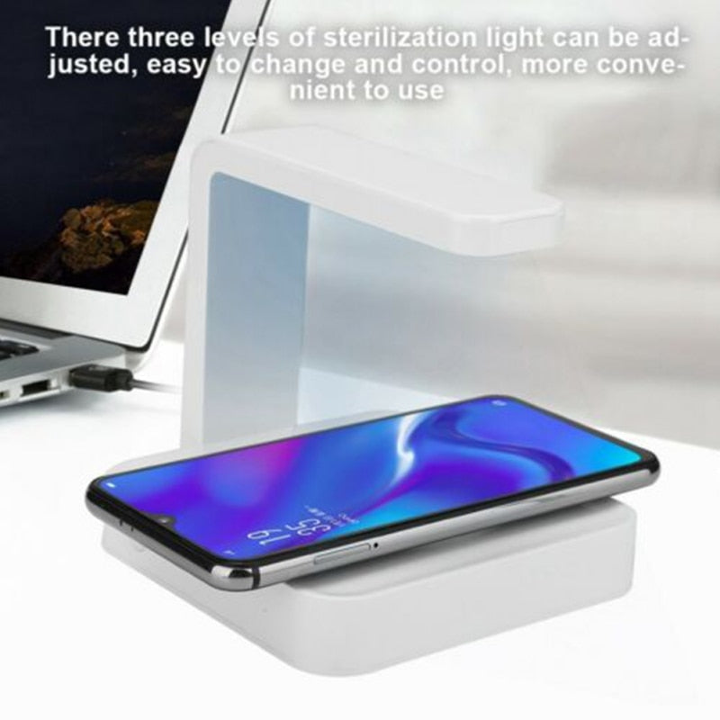 2 In 1 UV Sanitizer and Wireless Fast Charging Dock For Android and Apple