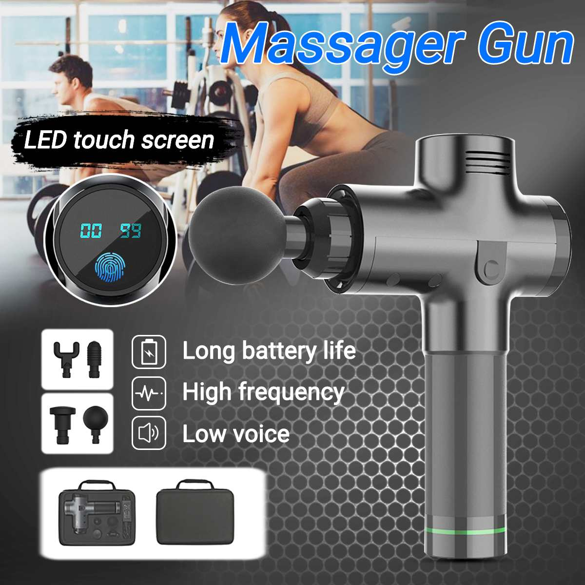 GunMassage - Therapeutic Muscle Massag Gun For Quick Pain Relief and Shorter Recovery Time