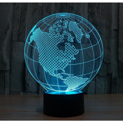Globe 3D LED Light