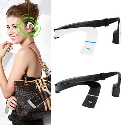 "Wireless Bluetooth Headset ""Bone Conduction"" Earphones with Hands Free Mic"