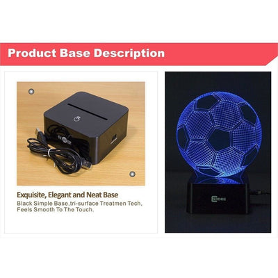 Soccer Ball 3D LED Light with FREE Shipping