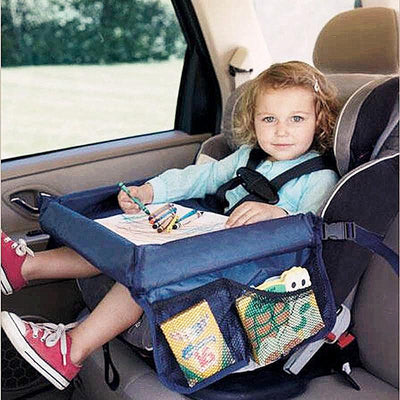 Waterproof Car Seat Tray with Storage for Your Toddler