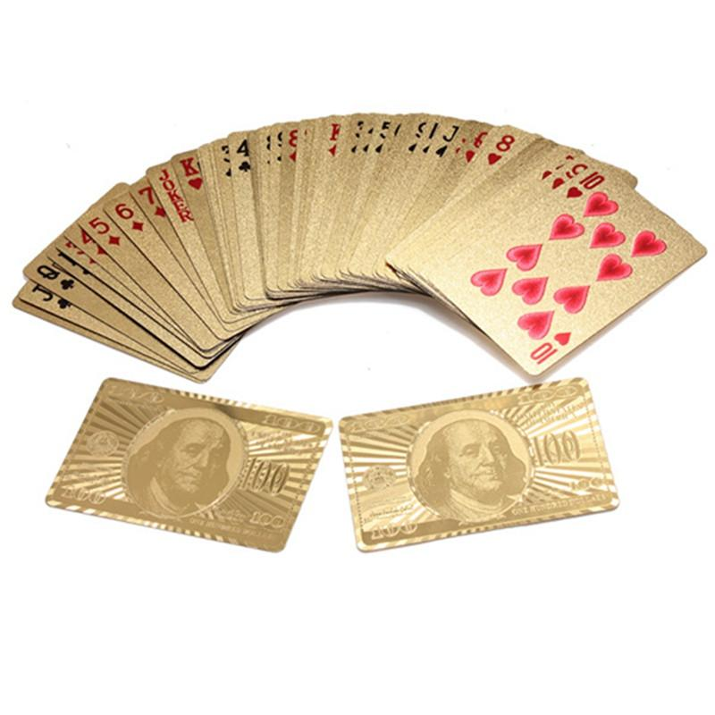 Pure 24 K Gold Foil Plated Playing Cards