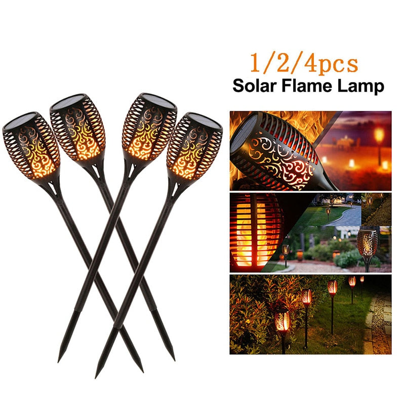 Outdoor Solar Flame Light Tiki Torch