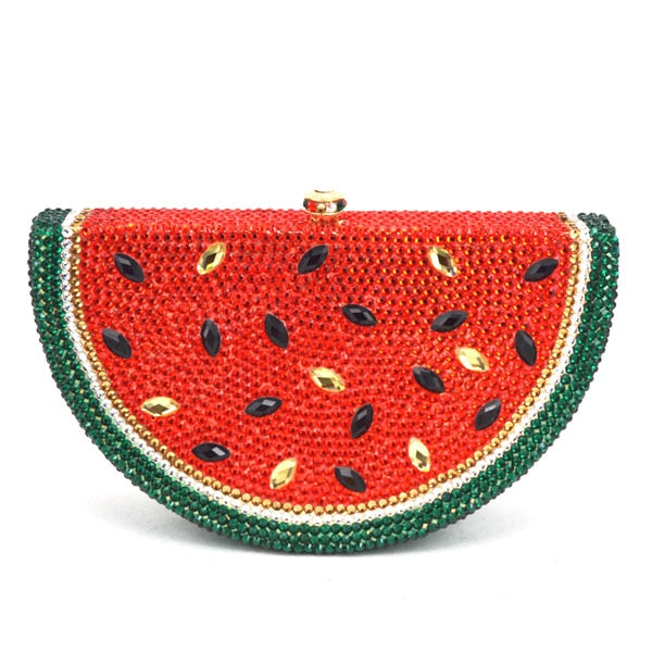Luxury Crystal Mouth Watering Watermelon Clutch