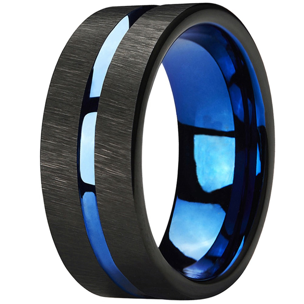 Abyss - Men's Tungsten Wedding Ring - Comfort Fit and Highly Polished For That Perfect Look