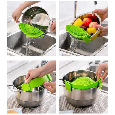 Clip-on Silicone Pan Strainer