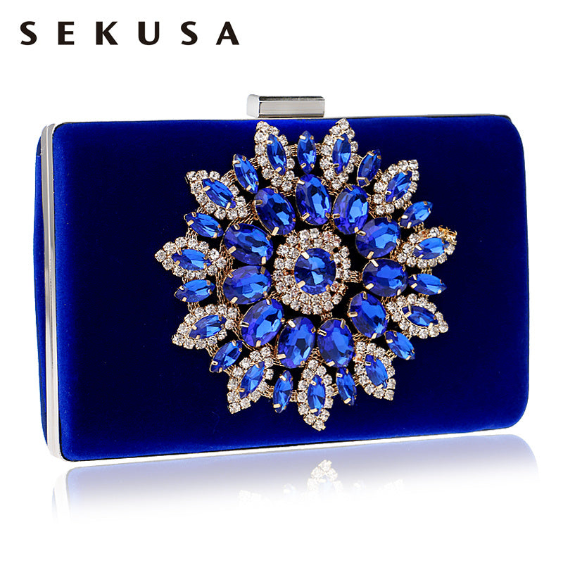 Rhinestones Women Clutch