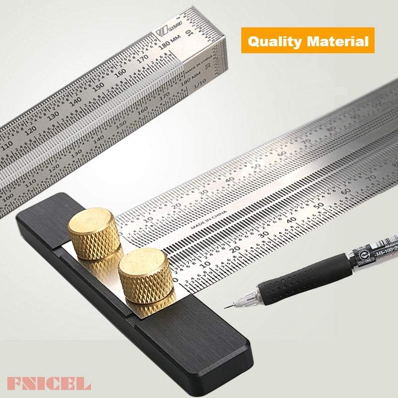 180mm Right Angle Ruler and T-Square Ruler