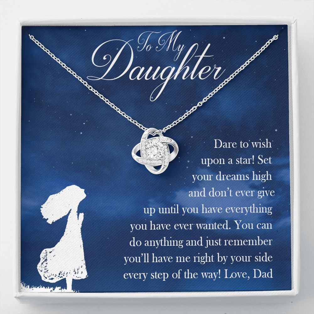 Daughter Dare To Wish Upon A Star - From Dad - Necklace