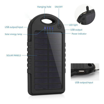 5000mah Solar Power Bank