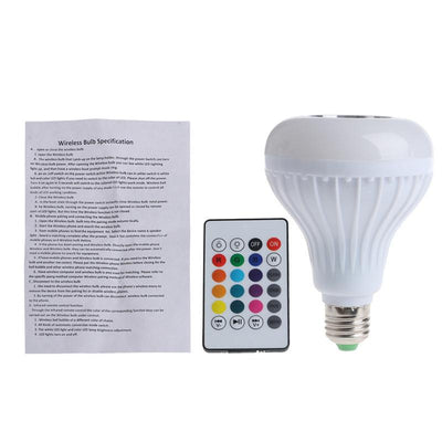 Bluetooth Speaker LED Light Bulb - Nightlight