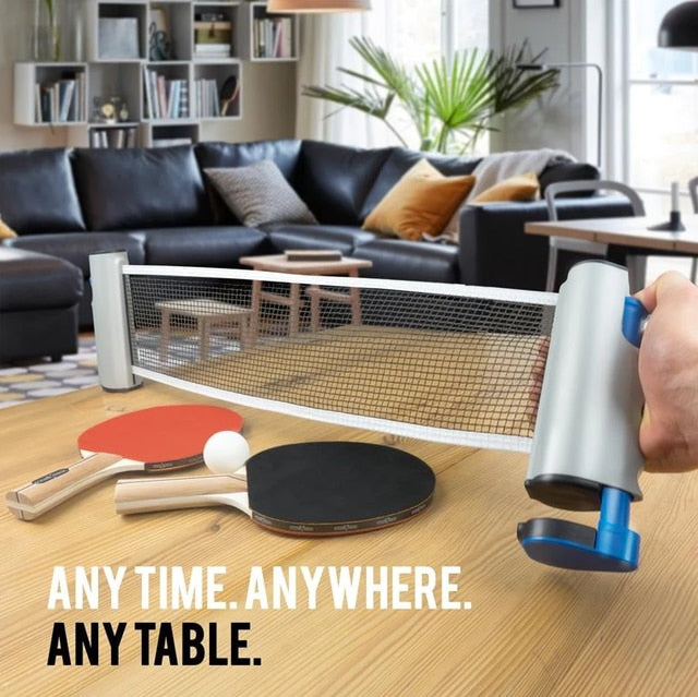 Ping Pong Anywhere - Retractable Table Tennis Net