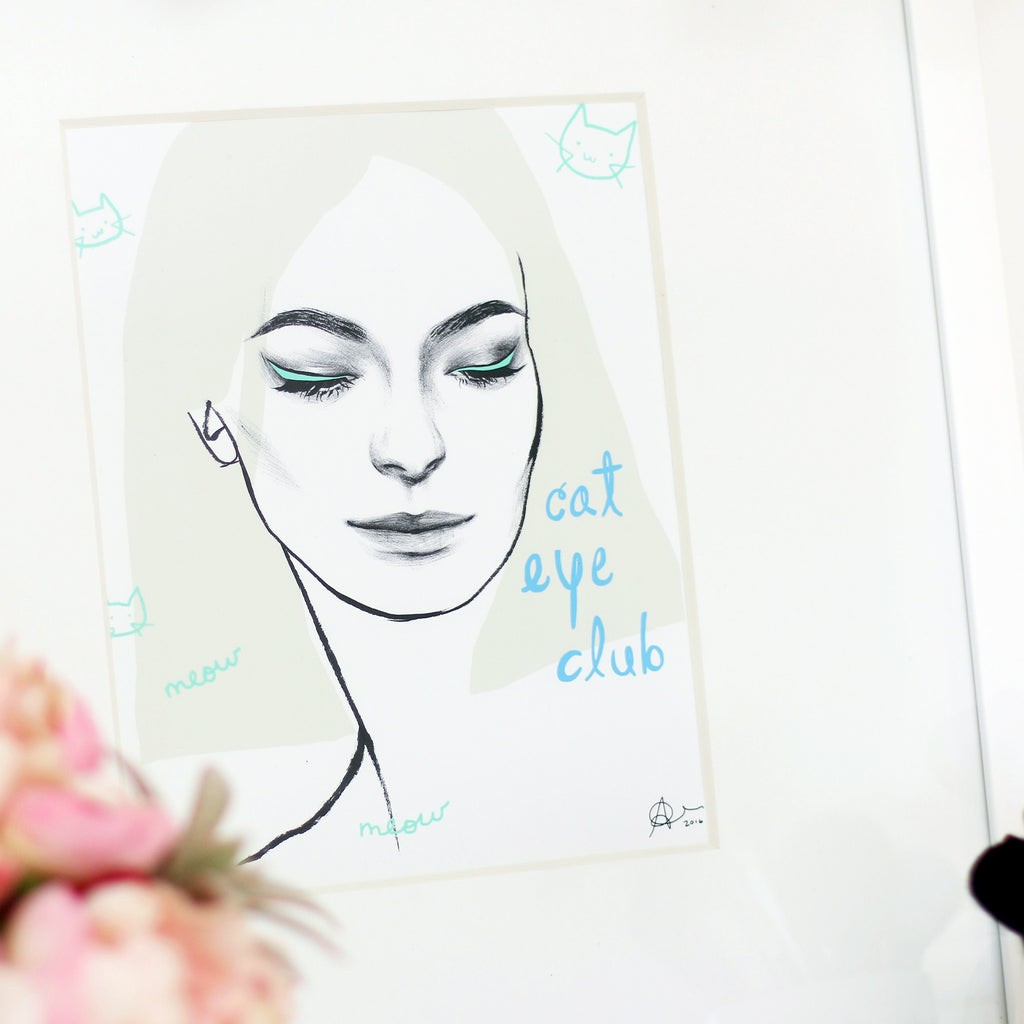 "Cat Eye Club | 8""x10"" Art Print"